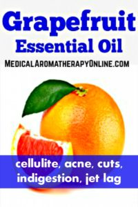 Grapefruit essential oil is used in aromatherapy to treat cellulite, acne, cuts, indigestion and jet lag.